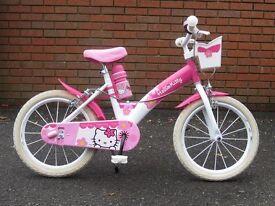 """16"""" Hello Kitty Girls Bike & Helmet - Excellent Condition"""
