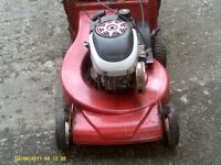 Harry 21 inch self drive lawnmower with aluminium deck running well good condition cuts well .