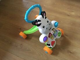 Fisher Price Learn with me Zebra Infant toddler musical walker