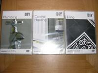Three DIY DVDs: Plumbing, Central Heating, Tiling.