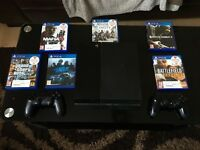 Sony playstation 500GB + 6games+ 2controlers