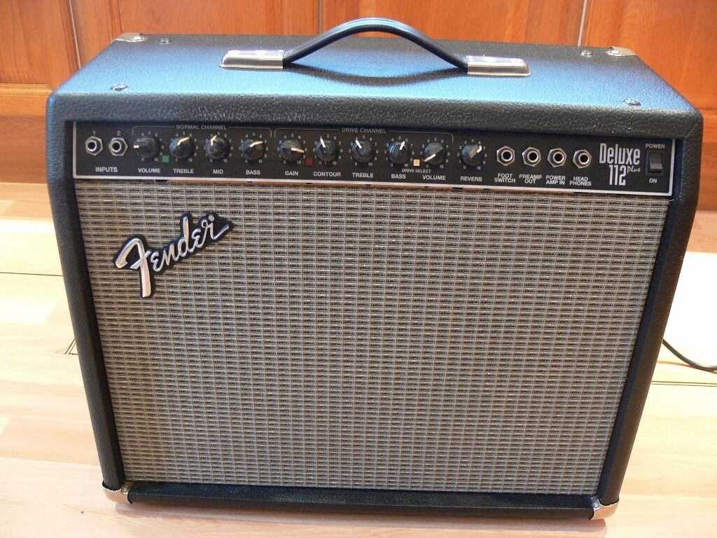 Fender deluxe 112 plus guitar amplifier with foot switch in fender deluxe 112 plus guitar amplifier with foot switch freerunsca Choice Image