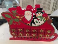 Christmas advent calendar sleigh