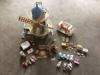 Sylvanian family windmill and accessories