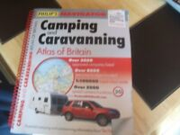 camping site magazine and road map magazine
