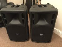 RCF 312-a active powered speakers, one faulty