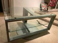 Sturdy glass TV Stand - FREE
