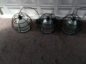 1x3 vintage halophane heavy glass reeded lights