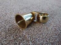 8 brass swivel legs
