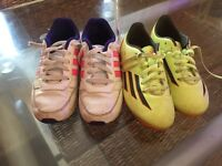 Girls Adidas trainers and football boots
