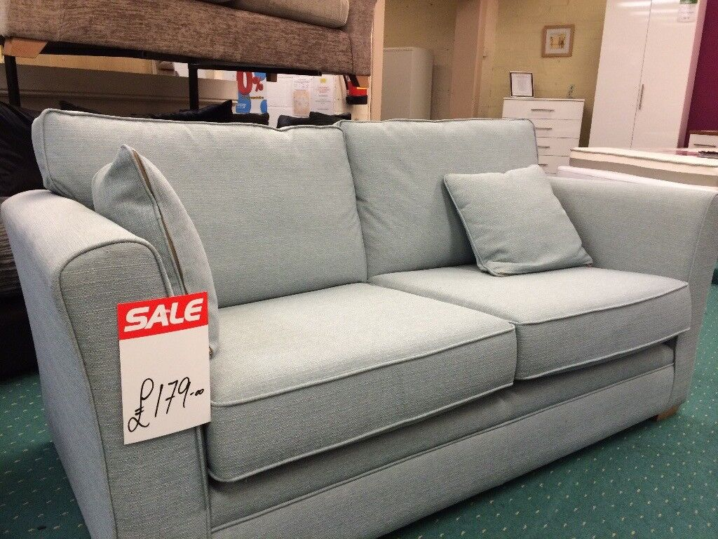 Free Duck Egg Blue Sofa 2 Seater Originally From Homebase