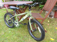 Child's bicycle - Halfords ACE Special Ops army bike