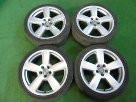 "18"" RS6 ALLOY WHEELS AUDI TT MK1, A1, S1 VW GOLF MK4, BEETLE, BORA 5 x 100"