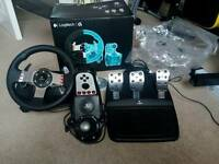 Logitech G27 with pedals and shifter