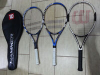 Tenis rackets 2x babolat contest limited and nanostrenght technology, 1wilson hamer carbon matrix
