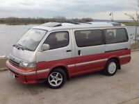 TOYOTA HIACE SUPER CUSTOM DIESEL AUTO RED/SILVER ** LONG M.O.T!!! + LOADS OF EXTRAS!!! **