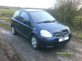 Toyota Yaris, lovely car in very good condition. SORRY SOLD