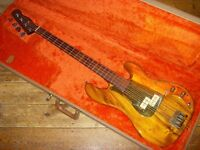 Schecter USA Van Nuys Precision bass early 80s Pau Ferro Rosewood neck and Koa body