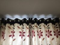 Pair of excellent eye let curtains, very little used so very good condition