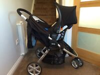 Britax Travel System - Car seat, Pushchair and Isofix base for car
