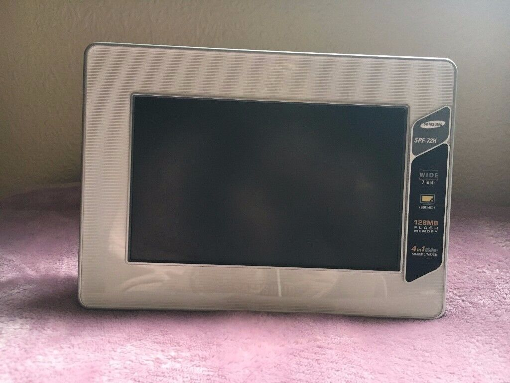 Samsung SPF-72H 7inch; digital picture frame with charger, 4 in 1 ...