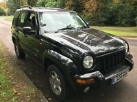 Jeep Cherokee Limited CRD 2776cc Turbo Diesel Automatic 4x4 Estate 04 Plate 30/04/3004 Black