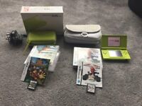 DS lite - GREEN - special edition - BUNDLE - MARIO - DONKEY KONG - CHARGER, BAG