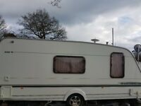 4/5 birth abbey adventure exc condition with awning .l shape n big end bathroom