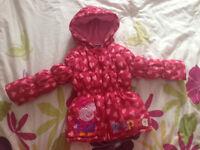 Girls Peppa Pig coat 4-5 yrs