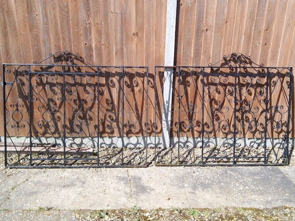 "Wrought iron gatesin Norwich, NorfolkGumtree - Size 40"" x 55"" wrought iron gates located hellesdon. Might need touch up. Not damaged"