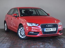 AUDI A3 2.0 TDI SE 5DR S TRONIC Auto (red) 2014