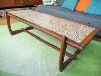 Mid century Danish teak wood tiled coffee table, quality Scandinavian piece G Plan era, modern retro