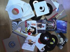 34 vinyl records 45rpm mix of genre see list