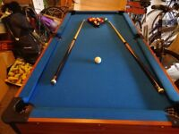 Pool table 6x3 ft.