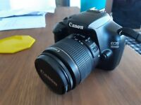 Canon EOS 1100D DSLR C/W 70-300mm Canon Zoom Lens and two cases