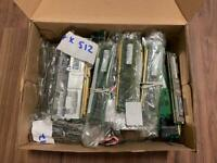 Box full of ddr rams , mix of 512/256 ,