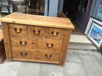 Large Chest of Drawers in reclaimed wood . Good condition - Free local delivery.