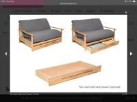 2 seater sofa bed Futon Company