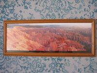 Set of 2 - Framed America Landscape Scenery Poster Picture (Alain Thomas) - Bryce & Monument
