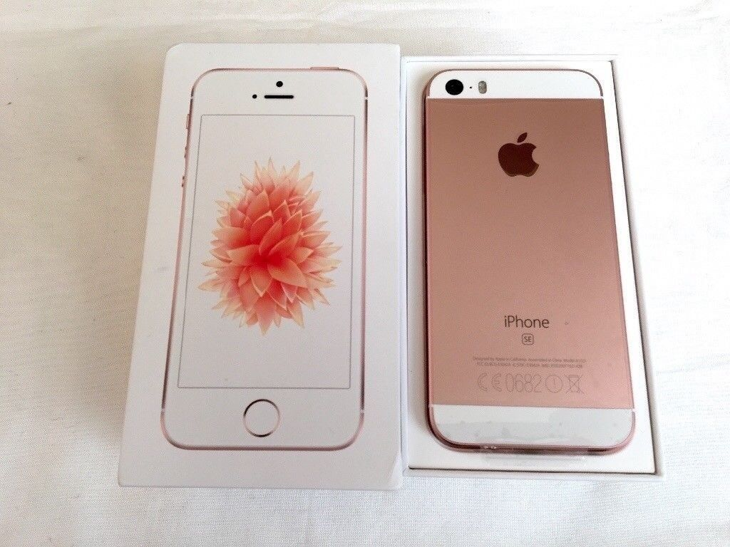 Sidste nye opened but brand new iPhone SE 32GB Rose Gold in box   in WW-19