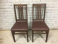 X2 Chairs With Faux Leather Seats- Lovely Quality!!
