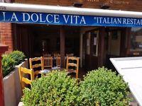 Head Waiter for an Italian Restaurant