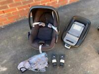 Maxi-cosi iso fix base, Pebble baby car seat and accessories