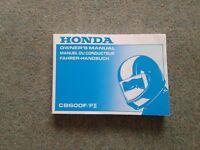 Honda CB600F/F2 Manual.