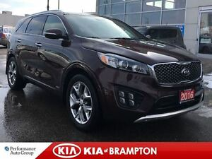 2016 Kia Sorento SX TURBO NAVI LEATHER PANO ROOF AWD LOADED!!