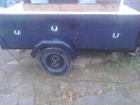 A good tidey car trailer 6half x 3feet ideal boot sale or diy