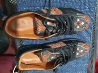 Etro Embroidered Low Top Men's Exclusive Trainers Black Size 10 Made in Italy