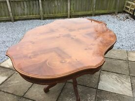Gorgeous Itailian Mahogany Inlaid Oval Dinning Table (Table Only!)