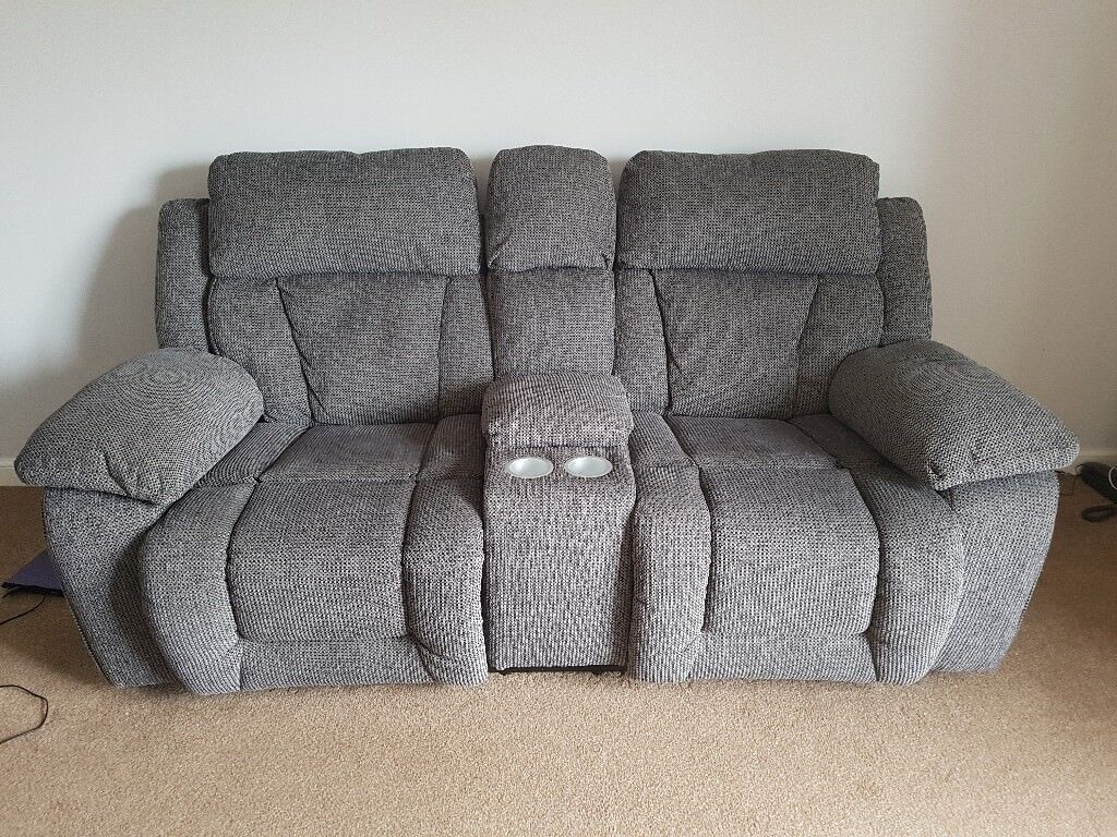 Scs Long Beach Manual Recliner Sofa 2 Seater With Console