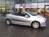 2007 07 PEUGEOT 207 1.6 SPORT COUPE CABRIOLET 2d 118 BHP FREE 12 MONTHS MOT **GUARANTEED FINANCE**